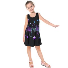 Happy Holidays 6 Kids  Sleeveless Dress