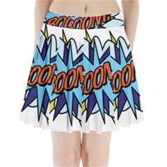 Comic Book Boom! Pleated Mini Skirt by ComicBookPOP