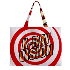 Comic Book X Ray Vision Red Spiral Zipper Mini Tote Bag by ComicBookPOP