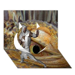 Dragon Slayer Heart 3d Greeting Card (7x5) by icarusismartdesigns
