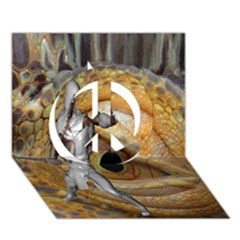 Dragon Slayer Peace Sign 3d Greeting Card (7x5) by icarusismartdesigns
