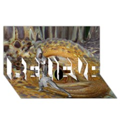 Dragon Slayer Believe 3d Greeting Card (8x4) by icarusismartdesigns