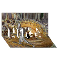 Dragon Slayer Hugs 3d Greeting Card (8x4) by icarusismartdesigns