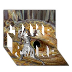Dragon Slayer Take Care 3d Greeting Card (7x5) by icarusismartdesigns