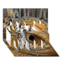 Dragon Slayer Get Well 3d Greeting Card (7x5) by icarusismartdesigns