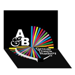 Above & Beyond  Group Therapy Radio Heart Bottom 3d Greeting Card (7x5) by Onesevenart