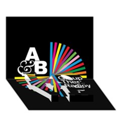 Above & Beyond  Group Therapy Radio Love Bottom 3d Greeting Card (7x5) by Onesevenart