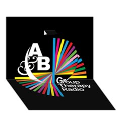 Above & Beyond  Group Therapy Radio Circle 3d Greeting Card (7x5) by Onesevenart
