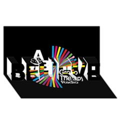 Above & Beyond  Group Therapy Radio Believe 3d Greeting Card (8x4) by Onesevenart