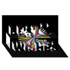 Above & Beyond  Group Therapy Radio Best Wish 3d Greeting Card (8x4) by Onesevenart