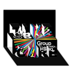 Above & Beyond  Group Therapy Radio Take Care 3d Greeting Card (7x5) by Onesevenart