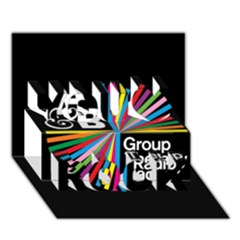 Above & Beyond  Group Therapy Radio You Rock 3d Greeting Card (7x5) by Onesevenart