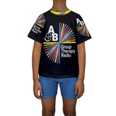 Above & Beyond  Group Therapy Radio Kids  Short Sleeve Swimwear by Onesevenart