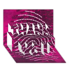 Above & Beyond Sticky Fingers Thank You 3d Greeting Card (7x5) by Onesevenart
