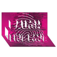 Above & Beyond Sticky Fingers Laugh Live Love 3d Greeting Card (8x4) by Onesevenart