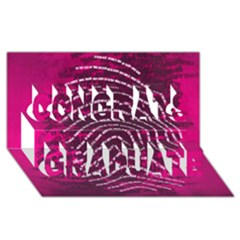 Above & Beyond Sticky Fingers Congrats Graduate 3d Greeting Card (8x4) by Onesevenart