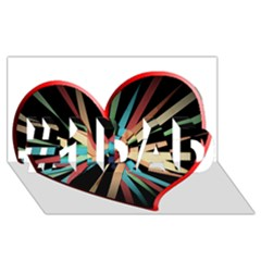 Above & Beyond #1 Dad 3d Greeting Card (8x4) by Onesevenart