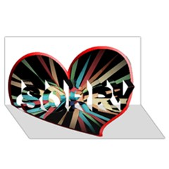 Above & Beyond Sorry 3d Greeting Card (8x4) by Onesevenart