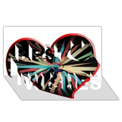 Above & Beyond Best Wish 3d Greeting Card (8x4) by Onesevenart