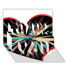 Above & Beyond Thank You 3d Greeting Card (7x5) by Onesevenart