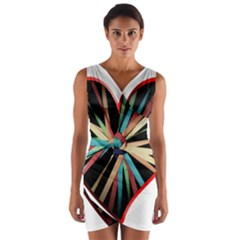 Above & Beyond Wrap Front Bodycon Dress by Onesevenart