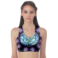Cathedral Rosette Stained Glass Beauty And The Beast Sports Bra