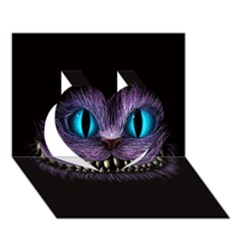 Cheshire Cat Animation Heart 3d Greeting Card (7x5) by Onesevenart