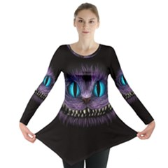 Cheshire Cat Animation Long Sleeve Tunic  by Onesevenart