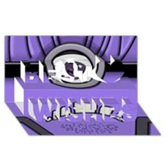 Evil Purple Best Wish 3d Greeting Card (8x4) by Onesevenart