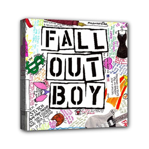 Fall Out Boy Lyric Art Mini Canvas 6  X 6  by Onesevenart