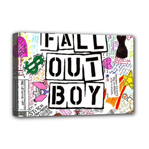 Fall Out Boy Lyric Art Deluxe Canvas 18  X 12   by Onesevenart