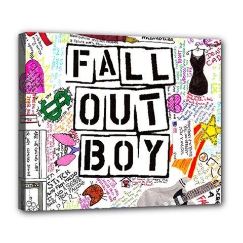 Fall Out Boy Lyric Art Deluxe Canvas 24  X 20   by Onesevenart