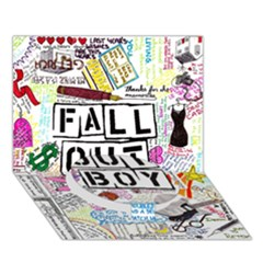 Fall Out Boy Lyric Art Circle Bottom 3d Greeting Card (7x5) by Onesevenart