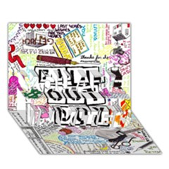 Fall Out Boy Lyric Art You Are Invited 3d Greeting Card (7x5) by Onesevenart