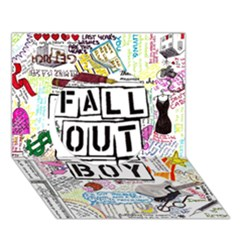 Fall Out Boy Lyric Art Circle 3d Greeting Card (7x5) by Onesevenart