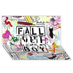 Fall Out Boy Lyric Art Sorry 3d Greeting Card (8x4) by Onesevenart