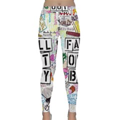 Fall Out Boy Lyric Art Classic Yoga Leggings by Onesevenart