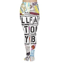 Fall Out Boy Lyric Art Women s Tights by Onesevenart