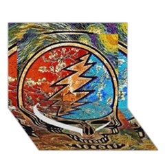 Grateful Dead Rock Band Heart Bottom 3d Greeting Card (7x5) by Onesevenart