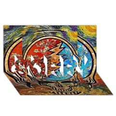 Grateful Dead Rock Band Sorry 3d Greeting Card (8x4) by Onesevenart
