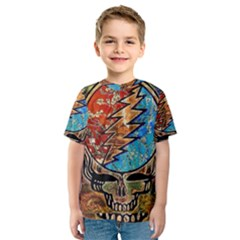 Grateful Dead Rock Band Kids  Sport Mesh Tee by Onesevenart