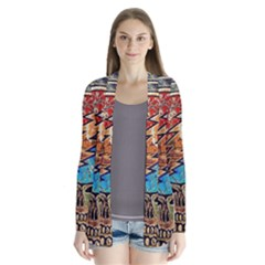 Grateful Dead Rock Band Drape Collar Cardigan by Onesevenart