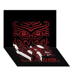 Gruss Vom Krampus Love Bottom 3d Greeting Card (7x5)
