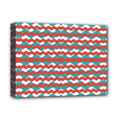 Geometric Waves Deluxe Canvas 16  X 12   by dflcprints