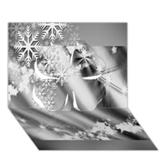 Christmas Background Clover 3D Greeting Card (7x5) by Zeze