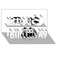 Scared Woman Expression Happy Birthday 3d Greeting Card (8x4) by dflcprints