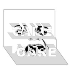 Scared Woman Expression Take Care 3d Greeting Card (7x5) by dflcprints