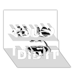 Scared Woman Expression You Did It 3d Greeting Card (7x5) by dflcprints