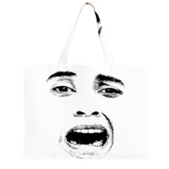 Scared Woman Expression Zipper Large Tote Bag by dflcprints