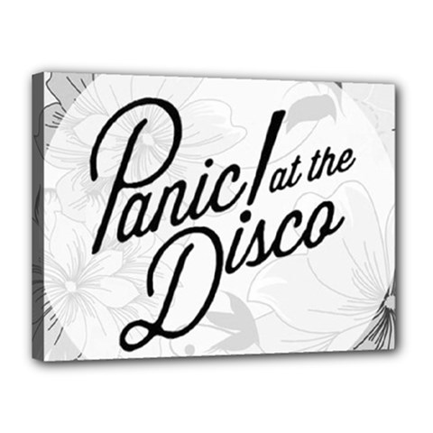 Panic At The Disco Flowers Canvas 16  X 12  by Onesevenart